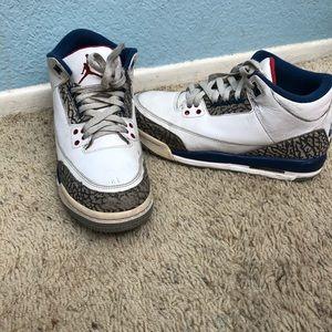 Jordan 3 true blue 7y